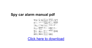 spy car alarm manual pdf google docs