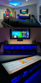 tv stand dual monitor gaming setup gaming stands bedroom gaming