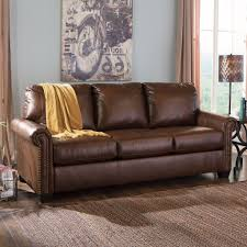 Leather Sleeper Sofa Amusing Leather Sleeper Sofa Blue Couch Advice For Your Home Ikea