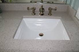 Quartz Bathroom Vanity Countertop Custom Sink Installation - Bathroom vanities with quartz countertops