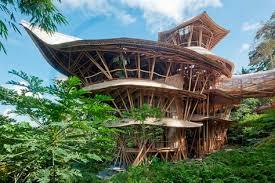The Origami Inspired Folding Bamboo House Inhabitat Sustainable Design Innovation Eco - ibuku bamboo architecture and design