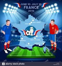 Football Country Flags Football Game Infographic France 2016 European Championship Soccer