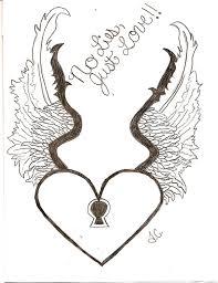 heart tattoo u2013 fantastic heart with wings drawing tattooshunter com