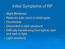 Night Blindness Information Retinitis Pigmentosa Rp Ppt Video Online Download