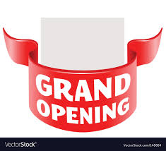 grand opening ribbon grand opening ribbon royalty free vector image