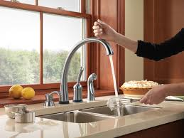 Delta Hands Free Kitchen Faucet Pilar Kitchen Collection