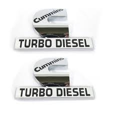 Cummins Diesel Baby Clothes Amazon Com Yoaoo 2x Oem Chrome Dodge Cummins Turbo Diesel Emblem