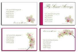 wedding invitation address labels orchid wedding invitations jade and phil