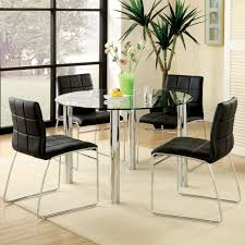 furniture of america jensen 5 piece glass top dining set hayneedle