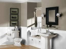 Porcelain Pedestal Sink Dark Brown Wooden Sink Cabinet White Porcelain Under Mounted