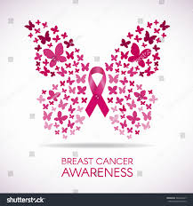 breast cancer awareness butterfly sign pink stock vector 383566447