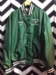 design jacket softball satin jacket w ritz crackers embroidered design boardwalk vintage