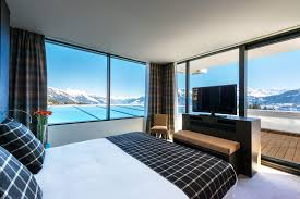 chambre hotel luxe design luxury hotel in crans montana switzerland