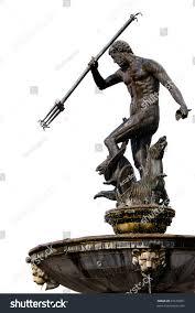 neptune bronze statue roman god sea stock photo 87678391