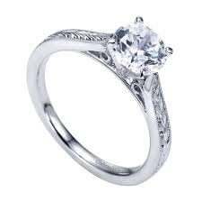 verlobungsring solitã r 14k white gold filigree solitaire engagement ring wedding day diamonds