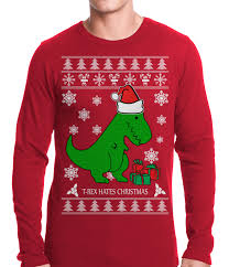 t rex hates sweater thermal shirt