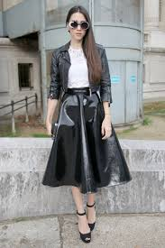 moto style jacket leather jacket street style trend at spring fashion week 2013 flare