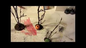 spooky town diy trees for landscaping youtube