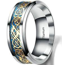 celtic dragon rings images Certified 8mm mens ring celtic dragon rings for men stainless jpg