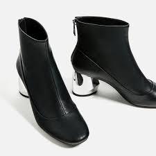 womens boots zara ankle boots with metal heel flatlay flatlays flatlayapp