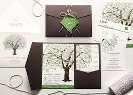grandfather oak tree wedding invitations rustic wedding