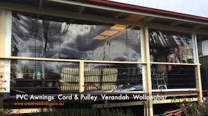 Awning Cord Creative Blinds And Awnings Pvc Cord And Pulley Verandah Drop