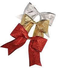 christmas ribbon bows large silver gold christmas ribbon bow christmas tree