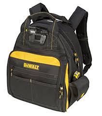 amazon black friday dewalt dewalt dgl523 lighted tool backpack bag 57 pockets amazon com