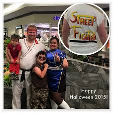 family halloween costume streetfighter
