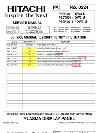 hitachi p50h401 service manual pdf printed circuit board video