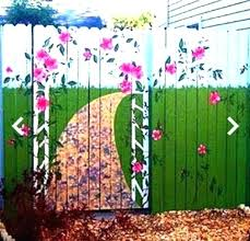 Garden Wall Paint Ideas Garden Painting Ideas Fence Painting Ideas Best Ideas About Fence