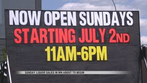 mn sunday liquor sales set to begin not all liquor stores will be open