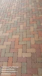 Basket Weave Brick Patio different colors of pavers were combined to create this unique