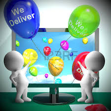 deliver ballons we deliver balloons from computer shows delivery shipping 3d