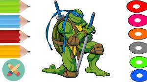 teenage mutant ninja turtles coloring pages learn colors