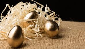 gold easter eggs gold easter eggs on a black background stock image image of