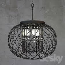 Antique Black Chandelier 3d Models Ceiling Light Yanira Antique Black Crystal Pendant