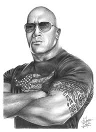 pencil drawings of famous people the rock pencil drawing by