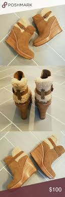 ugg s anais shoes chestnut ugg anais chestnut suede ankle boot foam cushions antique metal