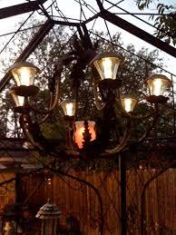 outdoor gazebo chandelier lighting solar chandelier repurposed chandelier with solar lights for patio