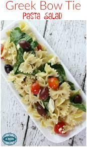 Cold Pasta Salad Dressing Greek Bow Tie Pasta Salad