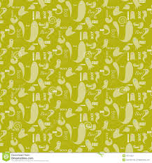 word halloween background halloween pattern acid green ghosts stock illustration image