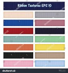 ribbon grosgrain 15 different ribbon textures vector grosgrain stock vector