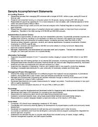 Sample Resume Accomplishments by Resume Accomplishments Examples Resume For Your Job Application