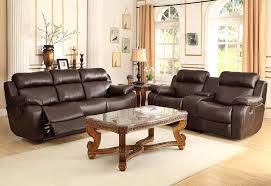 2 piece living room set amazon com homelegance marille reclining sofa w center console