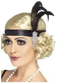 gatsby headband jeweled black flapper headband jpg 1900 1930 s