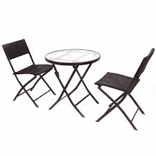 Folding Patio Table And Chair Set Aliexpress Buy Goplus 3pcs Wicker Rattan Outdoor Dinning