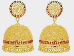 gold earrings jhumka design dynamic views beautiful traditional south indian gold jhumka