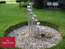 gartenbrunnen springbrunnen edelstahl kubus 60 slink ideen mit in