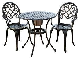 Black Bistro Table And Chairs 3 Pc Patio Bistro Set Outdoor Table And Chairs Wrough Iron With